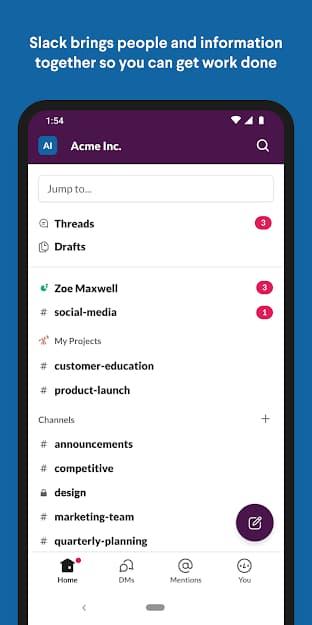تحميل تطبيق Slack